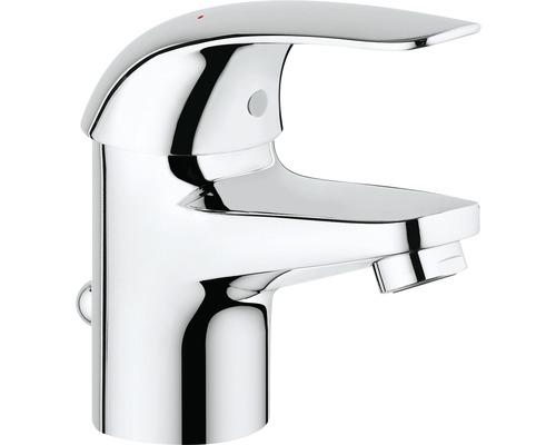 Mitigeur de lavabo GROHE Euroeco 23262000 chrome, mécanisme de vidage inclus