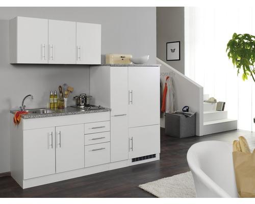 Küchenzeile Held Möbel Toronto Weiß 210 cm inkl. Einbaugeräte ...