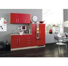 Cuisine complète Held meuble Toronto rouge 210 cm équipée-thumb-0
