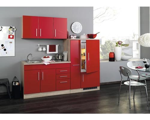 Cuisine complète Held meuble Toronto rouge 210 cm équipée