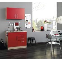 Mini-cuisine Held Möbel Toronto rouge 100 cm avec des appareils encastrés-thumb-0