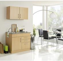 Mini-cuisine Held Möbel Toronto décor hêtre 100 cm avec des appareils encastrés-thumb-0