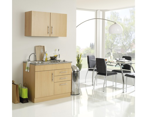 Mini-cuisine Held Möbel Toronto décor hêtre 100 cm avec des appareils encastrés