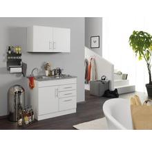 Mini-cuisine Held Möbel Toronto blanc 100 cm avec des appareils encastrés-thumb-0