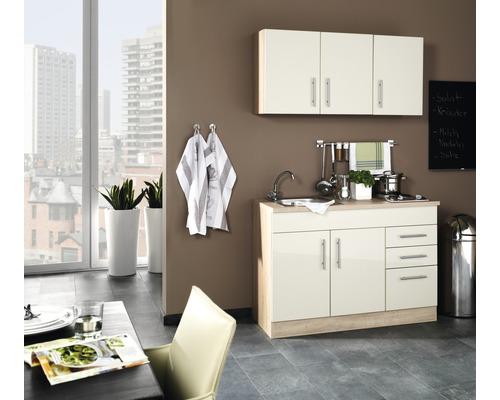Mini-cuisine Held Möbel Toronto crème 120 cm avec des appareils encastrés