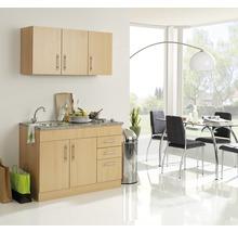 Mini-cuisine Held Möbel Toronto décor hêtre 120 cm avec des appareils encastrés-thumb-0