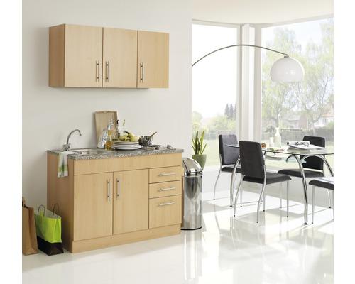 Mini-cuisine Held Möbel Toronto décor hêtre 120 cm avec des appareils encastrés