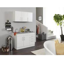 Mini-cuisine Held Möbel Toronto blanc 120 cm avec des appareils encastrés-thumb-0