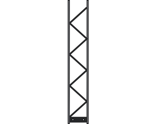 Poteau Palo 200 20x120 cm, argent