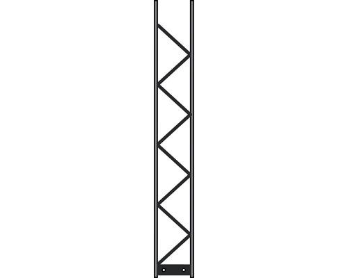 Poteau Palo 200 20x140 cm, argent