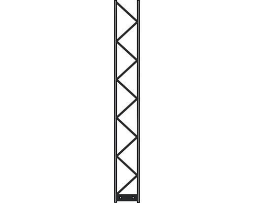 Poteau Palo 200 20x160 cm, argent