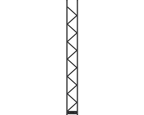 Poteau Palo 200 20x200 cm, argent