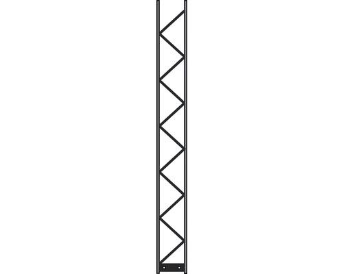 Poteau Palo 200 20x180 cm, argent