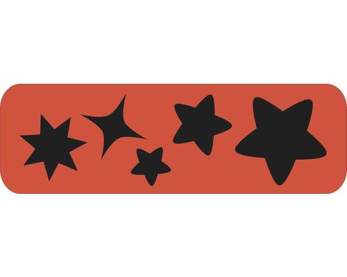 Pochoir étoiles L 44 x 14 cm