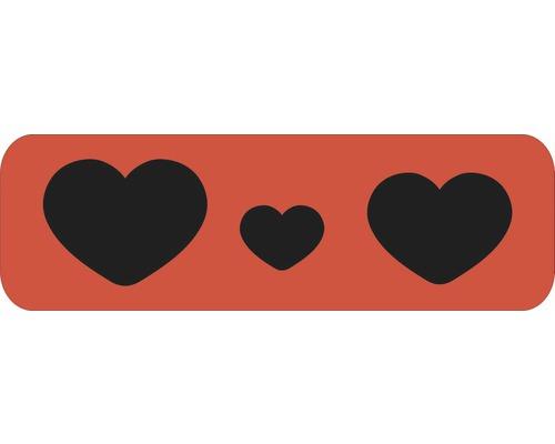 Pochoir cœurs L 44 x 14 cm