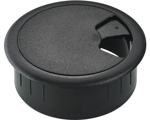 Passage de câble, noir Ø 60 mm