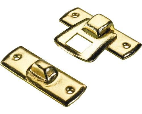 Schatullenverschluss, vermessingt 20x30 mm, 10 Stück