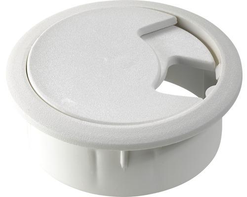 Passage de câbles Ø 60 mm blanc