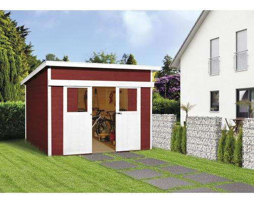 Abri de jardin à porte coulissante weka Lugano 1, 295 x 209 cm ...