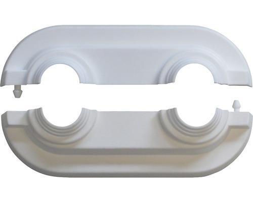 Heizkörper-Doppelrosette FLAMCO universal weiß