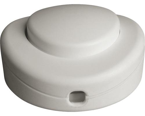Interrupteur à pied 1 pôle blanc