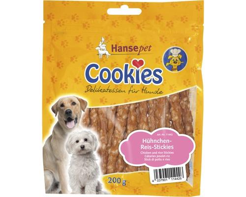 Nourriture sèche pour chiens, Cookies poulet et riz bâtonnets 200g