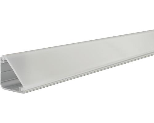 Profilé Paulmann aluminium Delta avec diffuseur alu/anodisé 1,0 m