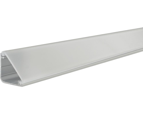 Profilé Paulmann aluminium Delta avec diffuseur alu/anodisé 2,0 m