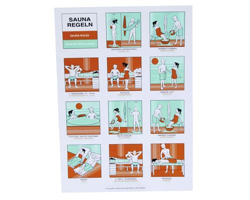 Tableau des règles de bain Karibu