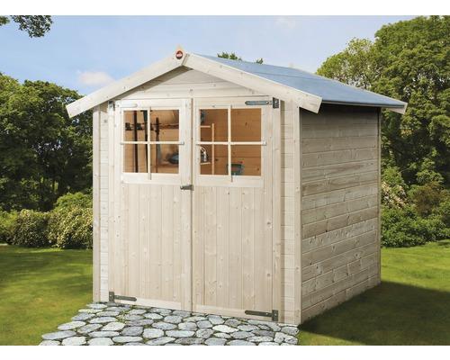 Abri de jardin weka 316 taille 1 avec plancher, 198x148cm, nature