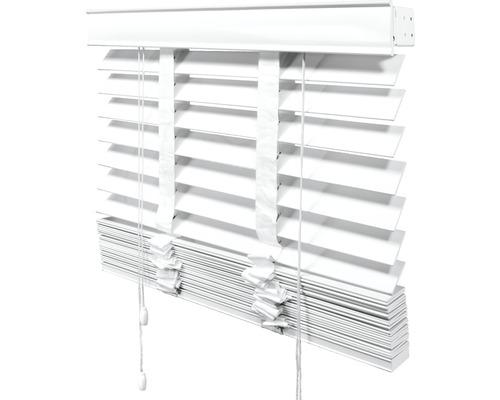 Store vénitien bois Soluna blanc 80x175 cm