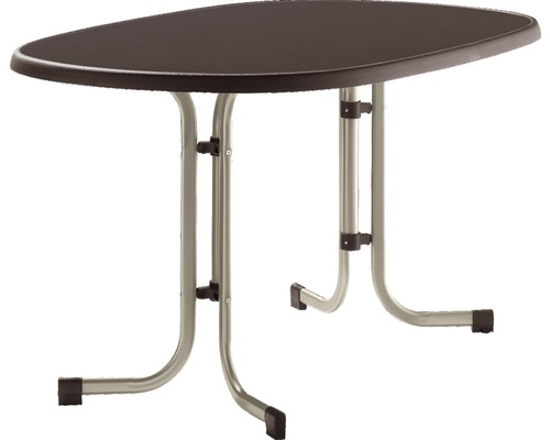 Table de jardin pliante Sieger Mecalit 140x90x72 cm, brun