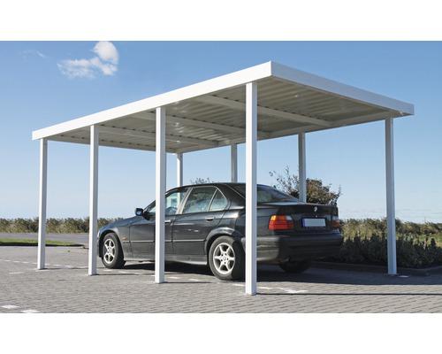 Carport basicline 319x542 cm blanc hornbach luxembourg for Hornbach carports