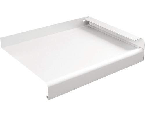 Fensterbank Alu weiß 200x23 cm inkl. Alu-Seitenabschluss (re+li)
