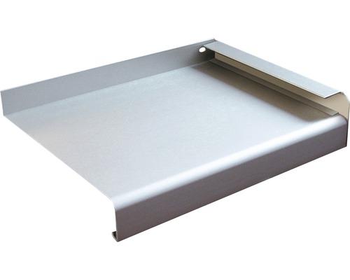 Fensterbank Alu silber 200x16,5 cm inkl. Alu-Seitenabschluss (re+li)