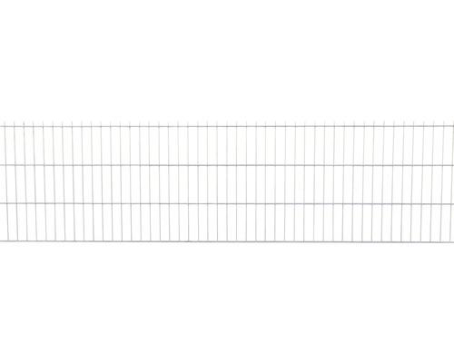 Clôture à grillage double 251x63 cm, galvanisée à chaud