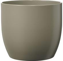 Pot de fleurs Soendgen Basel Fashion, céramique, Ø 13 H 12 cm, gris clair-thumb-0