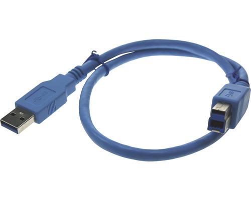 Câble de raccordement USB 3.0 Bleil A/B pour PC/TV et décodeur