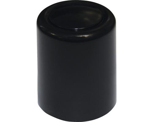 Butoir de porte noir Ø 30x35 mm