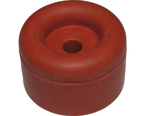 Butoir de porte rouge Ø 40x25 mm