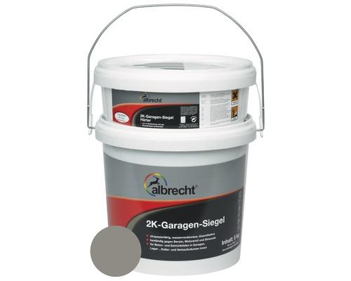 Couche d''étanchéité pour garage à 2 composants Albrecht RAL 7030 gris pierre 5kg