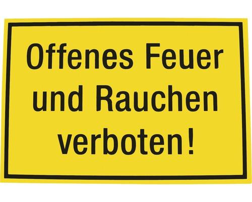 Panneau d''interdiction Interdiction de fumer et de faire du feu 200x300 mm-0