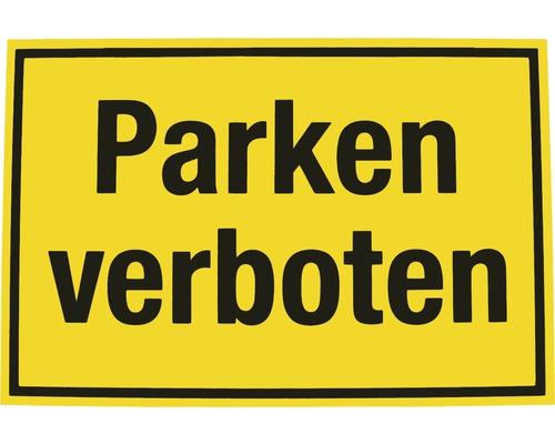 Panneau d''interdiction Interdiction de stationner 200x300 mm-0