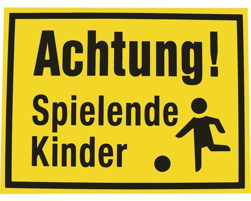 Panneau «Attention aux enfants qui jouent» 300x400 mm-0