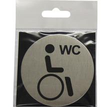 Plaque de porte WC Handicapés Ø 75 mm-thumb-0