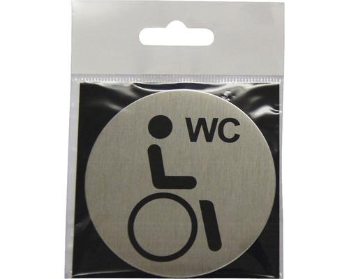 Plaque de porte WC Handicapés Ø 75 mm-0