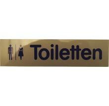 Plaque de porte Toilettes hommes/femmes 160x40 mm-thumb-0