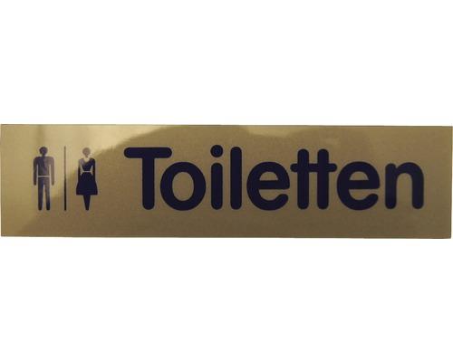 Plaque de porte Toilettes hommes/femmes 160x40 mm-0