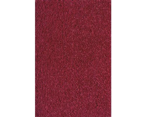 Moquette velours Ines rouge largeur 400 cm (marchandise au mètre)