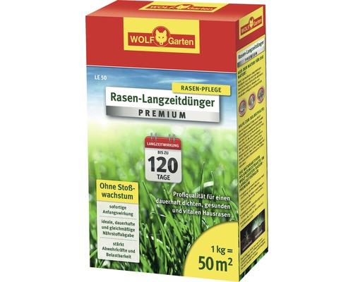 Rasen-Langezeitdünger Wolf LE 50 Premium, 1 kg